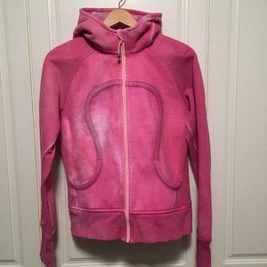 LULULEMON Scuba Hoodie custom pink full-zip